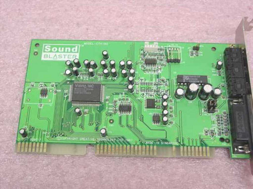 Creative Labs CT4180 16-Bit ISA Sound Blaster VIBRA 16 Sound Card - CT205-TQD2