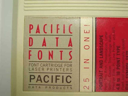 Pacific Data Products CF120 25-IN-ONE Font Cartridge
