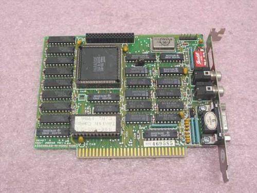 Paradise 28250 Zenith 9-Pin EGA Video Card 8-Bit ISA w/5-Pin Dip Switch