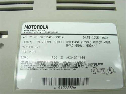 Motorola  UDS Keypad RM16M XFMR HMTA200
