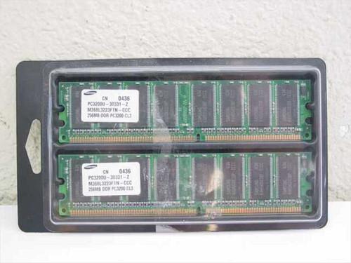 Samsung 256MB Memory x 2 total 512MB PC3200C CL3.0 CN 0436