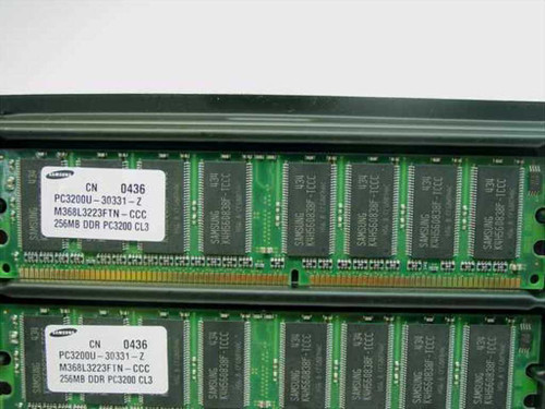Samsung 256MB Memory x 2 total 512MB PC3200C CL3.0 CN 0436