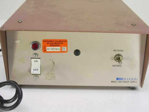 Rudolph Model 600 Bi-Polar DC Power Supply Output: 175 VDC Input: 115 VAC
