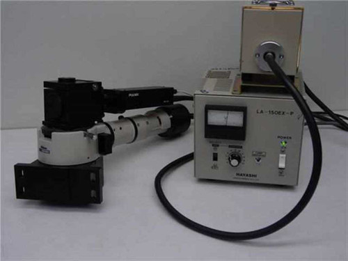 Nikon, Pulnix, Hayashi Microscope Camera with Fiber Optic BF/DF Illuminat LA-150