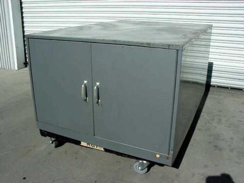 """Steel 36""""w x 51""""d x 24""""h 2-Door Cabinet with 4 Compartments - No Legs / Castors"""