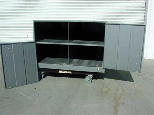 "Steel 36""w x 51""d x 24""h 2-Door Cabinet with 4 Compartments - No Legs / Castors"