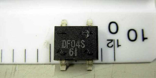 Unknown Bridge Rectifier 400 V 1A - Pack of 20 Pieces DF04S