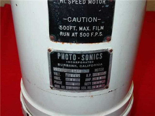 Photo-Sonics 70MM High Speed Film 3600 Sync Motor High Speed Film 500 Frames Per