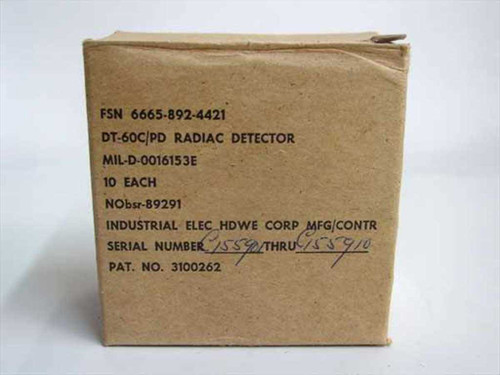IEHC DT-60C/PD Military Ground Troop Detector Badge - Box of 10 - New Old Stock