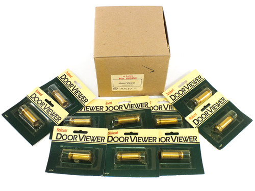 Brainerd 669XC - Box of 10 - 160° Wide Door Viewer / Peep Hole NEW Solid Brass