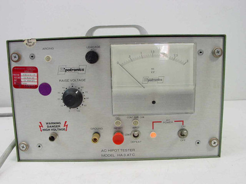 Hipotronics HA3 AC HIPOT Tester - HA3-AT-CCS11-780 - As-Is / For Parts