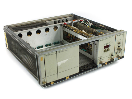 HP 8080A Main Frame Chassis with 8092A, 8093A, 15400A & 15401A Plug-Ins - As Is