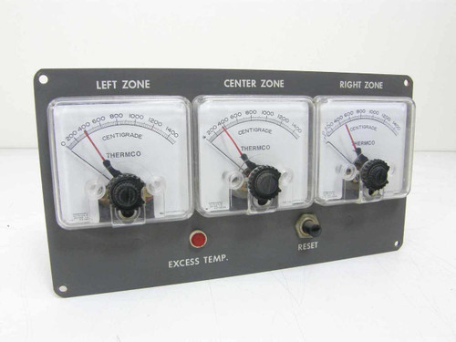API Inst. 3ea Thermco Thermocouple, Centigrade Gauges 414-6417R3