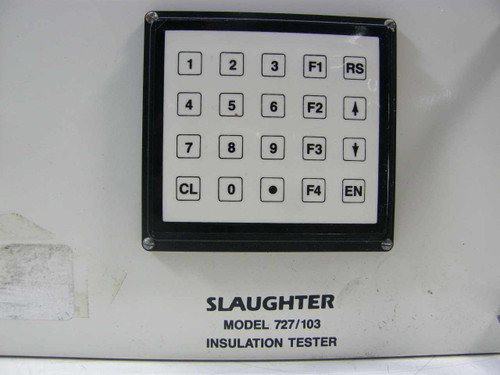 Slaughter  Rackmount Insulation Tester 727 / 103MP-3