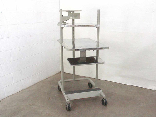 Anthro Heavy Duty Rolling Computer Rack with Adjustable Monitor Platform