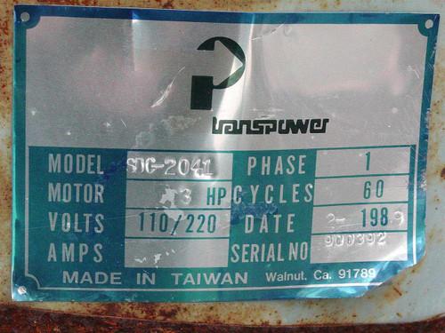 Transpower SDC-2041 Lafert Motor ST80L460 Volt 3 Phase