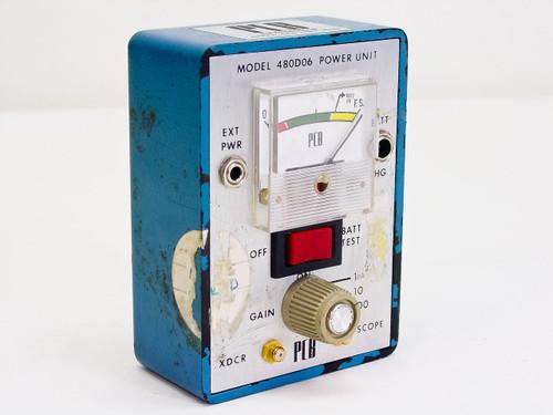 PCB Piezotronics 480D06 Power Unit - Bad Internal Battery / No PSU - As Is PArts