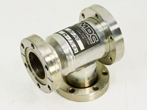 MDC AV-150 Vacuum Pump Angle T-Flange - Sputtering Chamber Air Systems