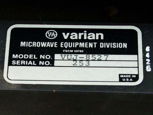 Varian VUJ-8527 C-Band / WR-137 Waveguide Assembly Satcom Earth Station