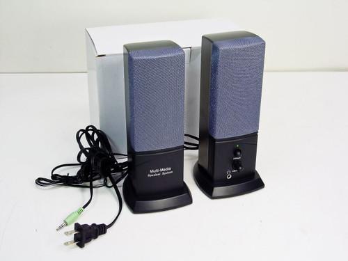 SL SL-001 Desktop Computer Multi-Media Speaker System w/ 2.5mm Headphone Jack