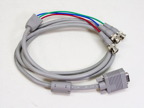 6 Foot 15-pin (HD15) Male VGA to 3 BNC RGB Cable  E164535