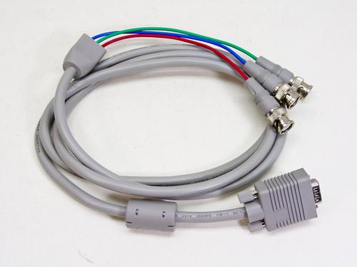 6 Foot 15-pin (HD15) Male VGA to 3 BNC RGB Cable  E164535