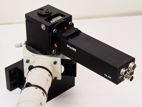 Nikon  Microscope Camera & Fiber Optic Light with Pulnix TM-745