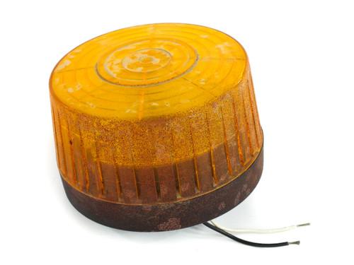 Tescor Low Profile 200 Amber SAFTI-Strobe Light 120 Volt AC 70 Flash/Min - USED