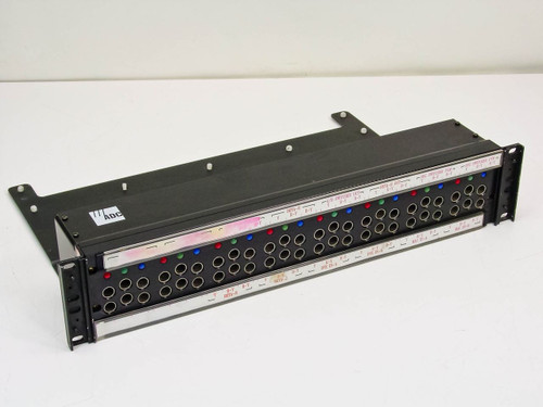 "ADC CV-8-N RGB Video Patch Bay with BNC / COAX on Rear- 19"" Rackmount"