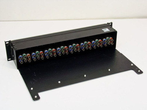 "ADC CV-8-N RGB Video Patch Bay with BNC / COAX on Rear- 19"" Rackmount"