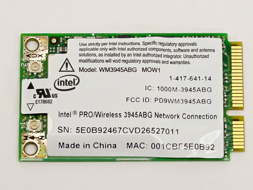 Intel Sony NR Series Notebook Pro/Wireless Card (WM3945ABG)