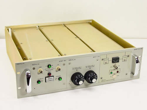 3dbm 70MDF-DAT-BRZ Dual Port RF AM Satcom Modulation in Plugin Module Chassis