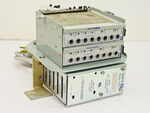 Rockwell 8548-00 Power Supply with Qty 2 Wescom 401 Wire Line Amplifiers