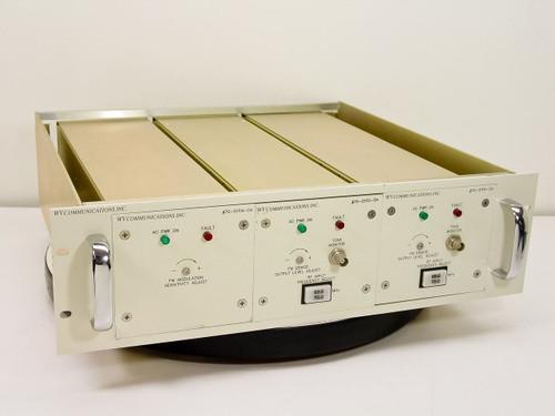 "WV Communications 19""  Rackmount RF IF Demodulator 3 module Chassis"