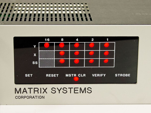 Matrix Systems Corp MSC Control Interface Unit with RS232 Option 3321A-232-S
