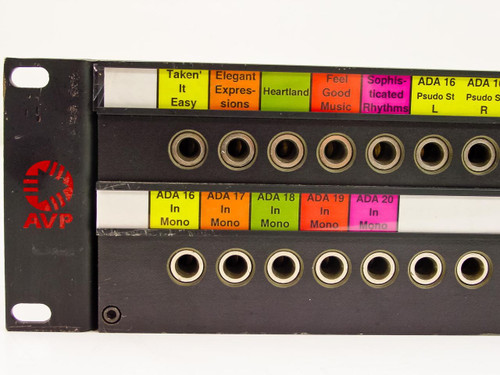"AVP RPT48N Series 24-Port Audio Patch Panel 1/4"" Jacks - 19"" Rackmount 2U"