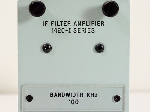 Microdyne 1420-I IF Filter Amplifier 100kHz @ 2 Pole Plug-In Module