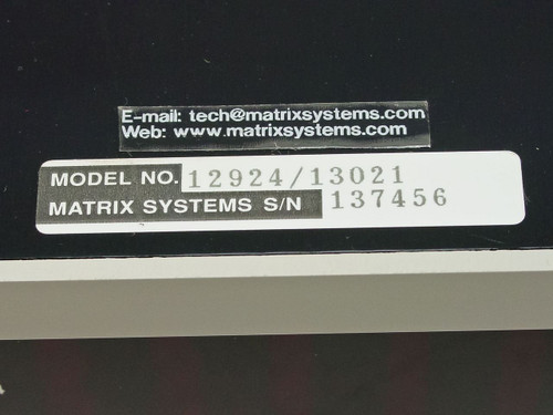 Matrix Systems Corp Programmable Quad 5x10x2 Wire Switching System 12924 / 13021