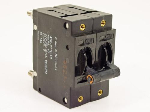 Potter & Brumfield W92-X112-10 2-Pole 10 Amp Circuit Breaker Switch