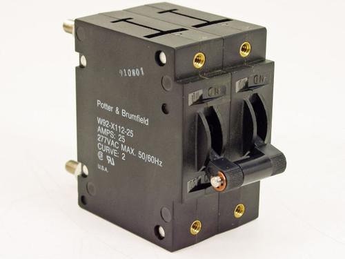 Potter & Brumfield Circuit Breaker Switch 25A (W92-X112-25)