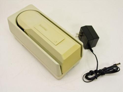 Magtek MICR Maxi Model 22120002 Wedge Check Reader AT w/AC Adapter-no MSR Yellow