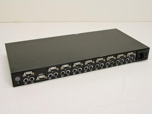 "APW CSW18 LMS (KVM) Switch PS/2 and VGA 8-Port  1U 19"" Rackmount"