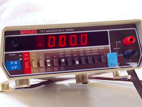 Keithley 177 Microvolt DMM Digital Multimeter Analog Output - BAD UNIT - As Is