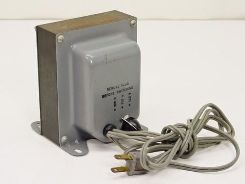 Switchable 105v 115v 125v Dial. Input Power 115vac (Transformer w/)