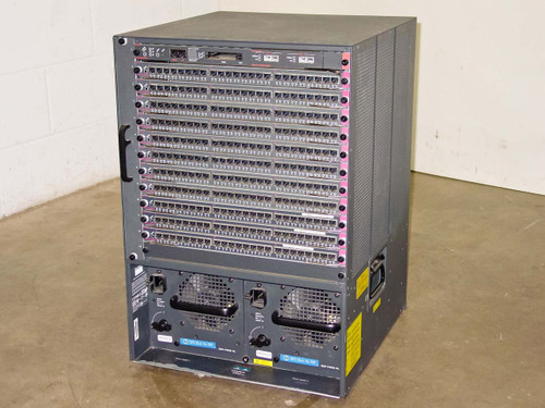 Cisco 5500 Catalyst Chassis w/Cards 13-Slots-WS-X5530 WS-U5534 WS5225R - AS IS