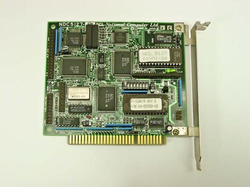 National Computer NDC5127 8-Bit ISA MFM Hard Drive Controller Card NCL 5127