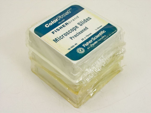 Fisher Precleaned Microscope Slides - Lot of 3 Boxes  12-550-43 YELLOW