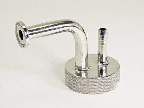 "Stainless Steel 3/8"" Nipple ~ 2"" Threaded Cap (1"" O.D flange)"