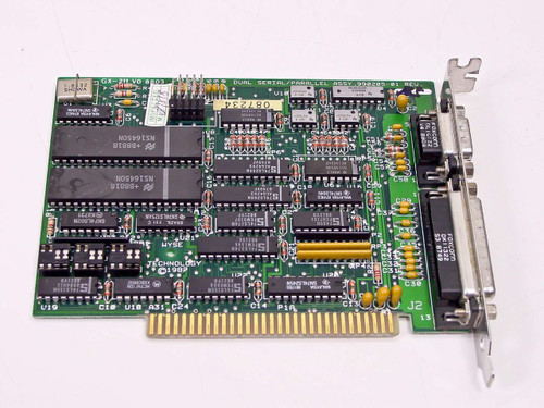 Wyse 990205-01 8-Bit ISA Dual-Port Serial and Parallel I/O Board