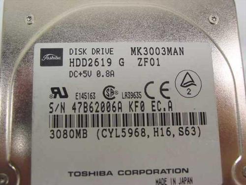 "Toshiba MK3003MAN 3GB 2.5"" 19MM 4200 RPM Laptop Hard Drive"